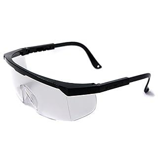 3X ACE Arbeitsbrille EN166   Arbeits- und Überbrille gegen Spritzer, Dreck und Partikel   Farbe: klar