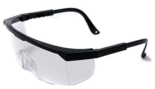 3x ACE Arbeitsbrille EN166 | Arbeits- und Überbrille gegen Spritzer, Dreck und Partikel | Farbe:...