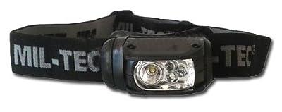 Kopflampe LED Molle 4-farbig sw