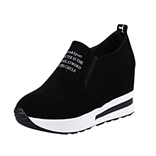Sports Shoes,BaZhaHei Women Fashion Sneakers Sports Running Hiking Thick Bottom Platform Shoes Outdoor Ladies Increased Height Mid Shoes Travel Slip-on Shoes Round Toe Shoes Size 2.5-7.5