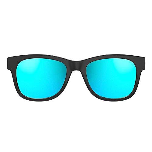 VocalSkull Knochenleitung Bluetooth 4.1 Sonnenbrille Drahtloser Stereo Kopfhörer Wasserdicht Wireless Polarisierte Sports mit Mikrofon für IOS/Android/PC Mattiert(Anti-blaues Licht) (Blau)