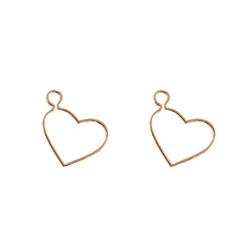 YOYOYAYA Ohrringe 14K Gold Umhüllt Natürlichen Süßwasser Perlen Schmuck Herz Frauen Mädchen Zarte Partei Datum Eleganz Geschenk