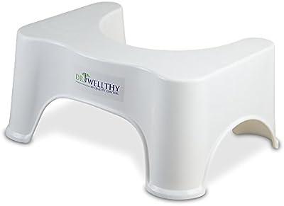Dr. Wellthy - ¡El taburete del tocador! - antideslizante anti constipación curar squat hemorroides