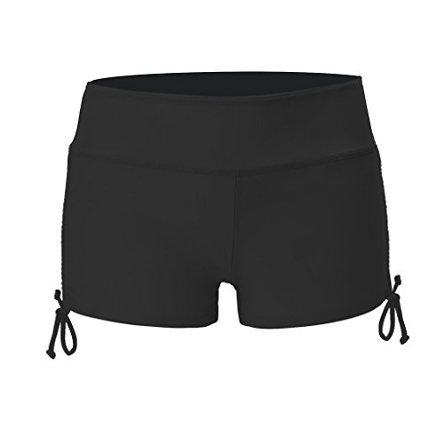 NONMON Damen Badeshorts Schwarze Bikinihose Schwimmshorts UV Schutz - XL