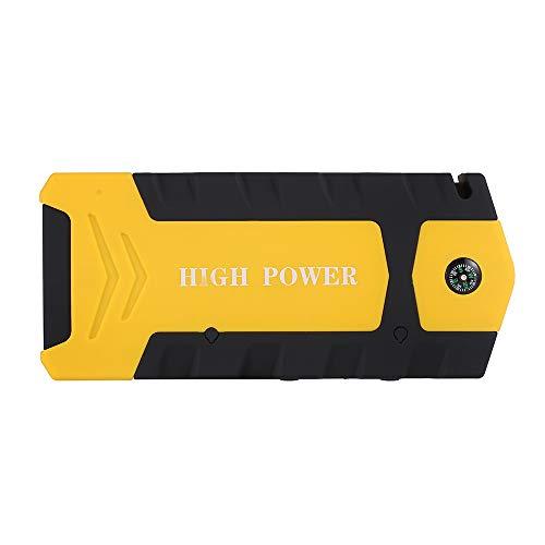 HUIGE Démarreur de démarrage 600A Peak Batterie de Voiture Booster Pack de démarrage 12V jusqu'à gaz et Motos avec des Pinces à Puce USB Power Bank Construire en Lampes de Poche LED