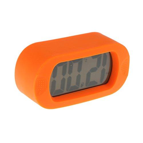 1 pieza Alarma Reloj Despertador LCD Silicona Digital