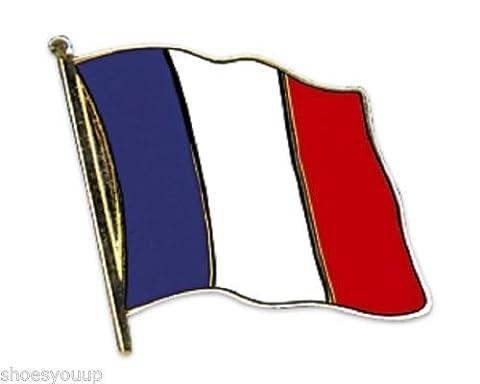 France Drapeau national plaqué or avec Pin's (épinglette Badge en émail