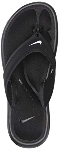 NIKE Women's Ultra Comfort Thong Athletic Sandal, White Black, 7 B US Nike Womens Thongs