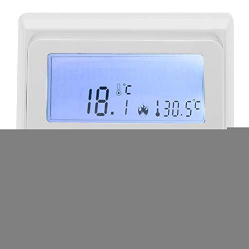 Jimfoty Nicht programmierbarer Thermostat, digitaler elektronischer Thermostat für die Fußbodenheizung, Temperaturregler, weiße Hintergrundbeleuchtung