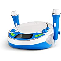 X4-TECH Bobby Joey JamBox - Reproductor de CD para niños con USB, Bluetooth, MP3, Color Azul