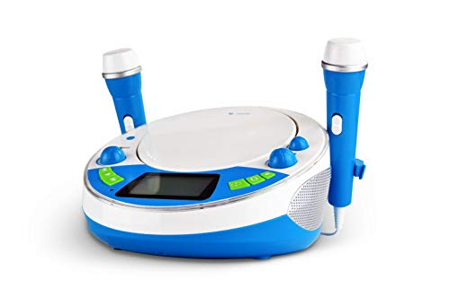 X4 TECH Bobby Joey JamBox - Kinder CD Player mit USB Bluetooth MP3 Sticker blau