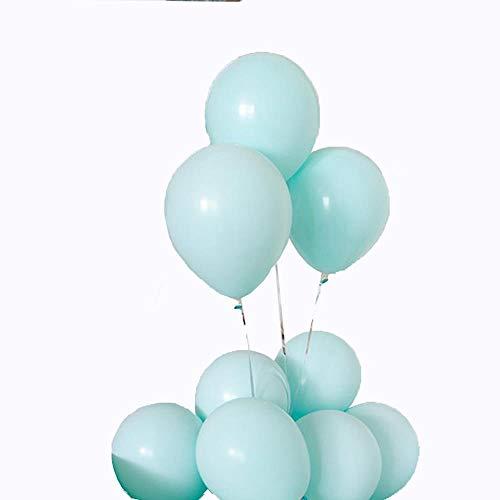 Happy Party Dekoration Geburtstag Layout Wohnzimmer Dressing Verdickung Ballon Farbe Ballon Paket matt Tiffany blau 50+ matt weiß 50 (Blau Dekoration Tiffany Party)