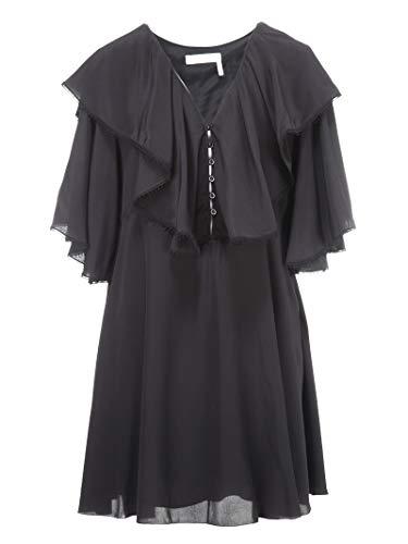 Chloé Damen 18Sro2518s004nr001 Schwarz Seide Kleid -