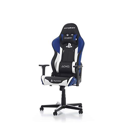 DXRacer (das Original) Racing R90 Gaming Stuhl PlayStation Edition für PC, ergonomischer Schreibtischstuhl aus Kunstleder, Schwarz-Gelb-Grau