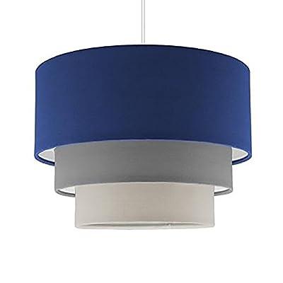 Beautiful Round Modern 3 Tier Fabric Ceiling Designer Pendant Lamp Light Shade from MiniSun
