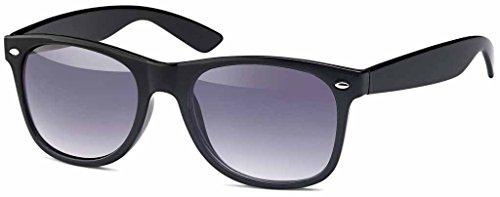 MOKIES Polarisierte Unisex Sonnenbrille - UV400 Filterkategorie 3 CE Kennzeichnung - Polycarbonat - FLEX TEMPLE - 902 Grau verlaufend