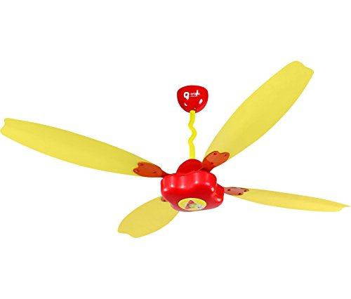 Orient Electric Ceiling Fantoosh 1200mm Kids Ceiling Fan (Red/Yellow)