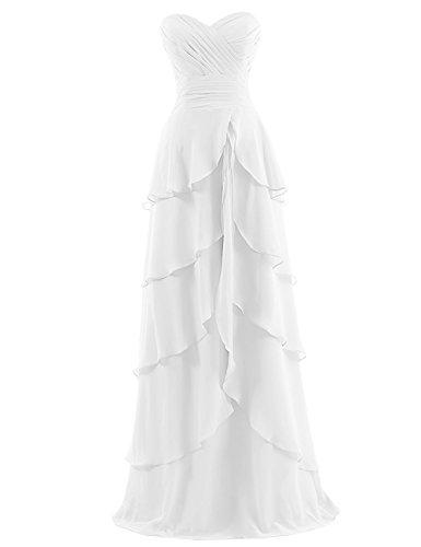 Dresstells, Robe de soirée de mariage/cérémonie/demoiselle d'honneur bustier en cœur robe à volants Ivoire