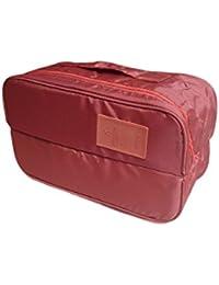 INDKART Portable Multi-Functional Travel Organizer Double Pocket Cosmetic Make-up Bag Luggage Storage Case Underwear... - B078JC5DG3