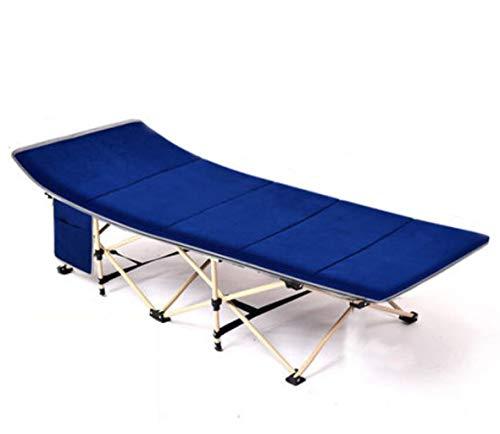 Xghw fogli pieghevoli uomo ufficio letto a spola lettino reclinabile da spiaggia reclinabile ad alta resistenza senza materasso peluche di alta qualità (colore : blue 2)