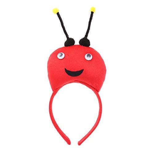 BESTOYARD Stirnband Insek Marienkäfer Stirnband mit Fühler Kopfschmuck Haarband Cosplay Aufführung Kostüm - Marienkäfer Kostüm Stirnband