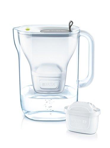 BRITA Wasserfilter Style hellgrau inkl. 1 MAXTRA+ Filterkartusche – BRITA Filter in modernem...