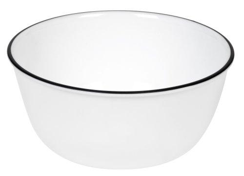 Corelle Livingware 28-Ounce Super Soup/Cereal Bowl, Classic CafÃ'Â¿ Black Rim Only by CORELLE Corelle Classic Cafe