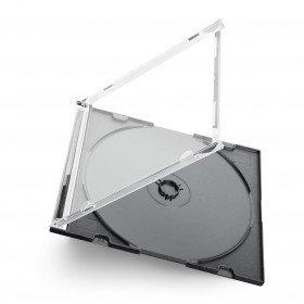 Slimline Box per 1 CD tray nero 20 pezzi