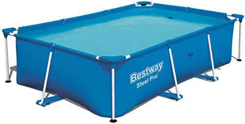 Bestway 56403 Steel ProPool - Piscina gonfiabile con telaio in acciaio, 259 x 170 x 61 cm, colore: blu