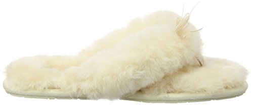 UGG Australia Fluff Flip Flop II, Pantofole a Collo Basso Donna Avorio (Natural)
