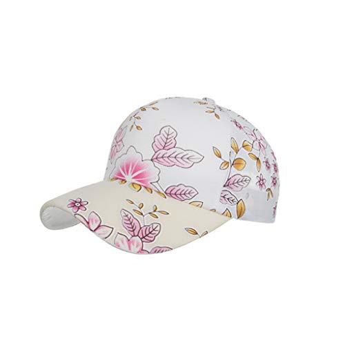 WQIANGHZI Baseballmütze Hat Unisex Outdoor Baumwolle hochwertige Baseball Cap einstellbar Blumenart