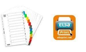 ELBA intercalaires mensuels, en carton Mylar, en couleur,