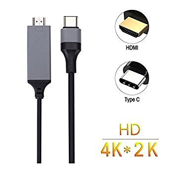 SEC USB C to HDMI Cable,USB 3.1 Type C to HDMI Cable 4K 6inch for 2016 MacBook Pro, 2015 MacBook ,Samsung Galaxy S8/S8+ - Color may vary