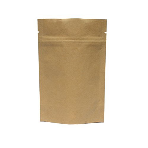 AwePackage 2 oz Kraft Paper Stand up Zipper Pouch