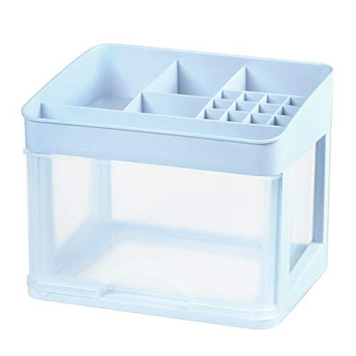 XIAOD Plastische Transparente Kosmetische Organisator, Lebende Desktop-speicherbox Kosmetikschmuck Und Kosmetik-Manager Zu Hause Tägliche Notwendigkeiten Speicherbox,Blue