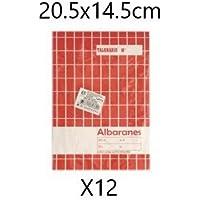 EUROXANTY® Albaranes | 40 Hojas por talonario - 20 Páginas originales + 20 Páginas auto copiantes | 480 Hojas en total - 240 Páginas originales + 240 Páginas auto copiantes | 20'5 cm * 14'5 cm
