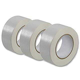 ASC 3pk Silver Duct Tape - Quality Large Roll - Automotive Grade - 48mm x 50m 3 Rolls