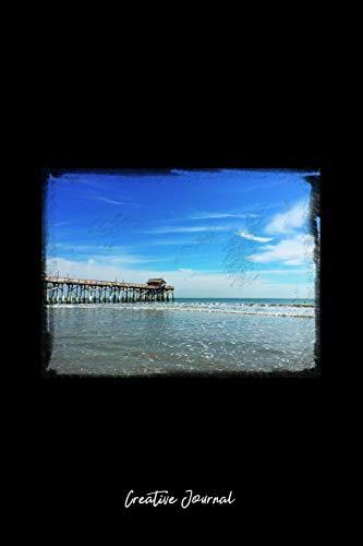 Creative Journal: Dot Grid Journal - Beach Florida Pier Water Ocean Blue Sky - black Dotted Diary, Planner, Gratitude, Writing, Travel, Goal, Bullet Notebook - 6x9 120 pages -