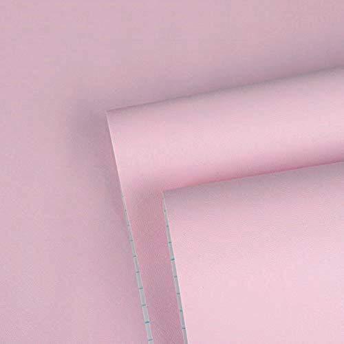 45cmx10M Imperméable Papier Peint Auto-Adhésif Trompe l'oeil Stickers Autocollant Muraux Décoration Murale pour Chambre Salon Meuble, Rose