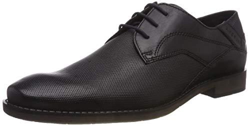 Bugatti 3.1323E+11, Zapatos de Cordones Derby para Hombre, Negro Black 1010, 43 EU