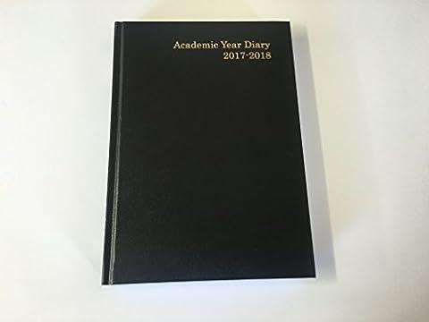 Noir A5académique Jour par page Agenda 2017/18