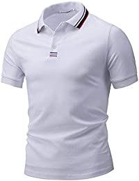 HX fashion Camisas Polo Hombre Hombre Solapa Manga Corta Algodón Tamaños  Cómodos Color Hilo Decorativo Polo 2667757eea47a