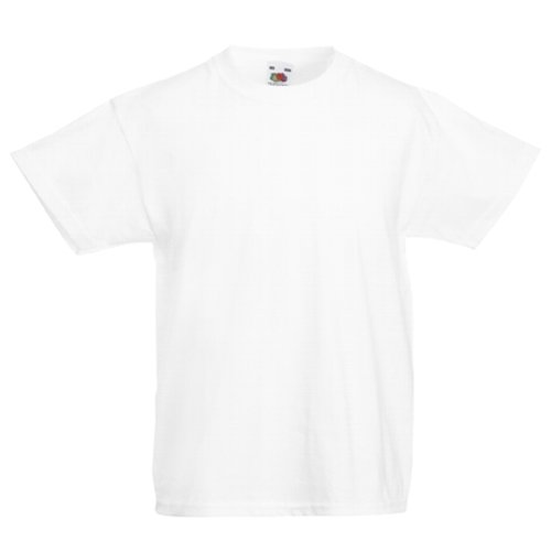 Fruit of the Loom Childrens T-Shirt - White 7/8