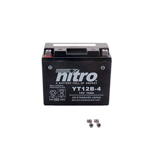 0814-batterie (Batterie 12V 10AH YT12B-4 Gel Nitro 696 Monster M5 08-14)