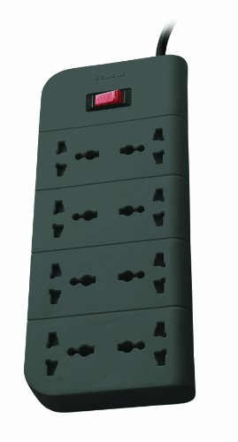 Belkin F9E800zb2MGRY Essential Series 8-Socket Surge Protector