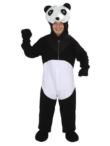 Panda Bär offen Einheitsgrösse XXL Kostüm Fasching Karneval (Panda Maskottchen Kostüm Für Erwachsene)