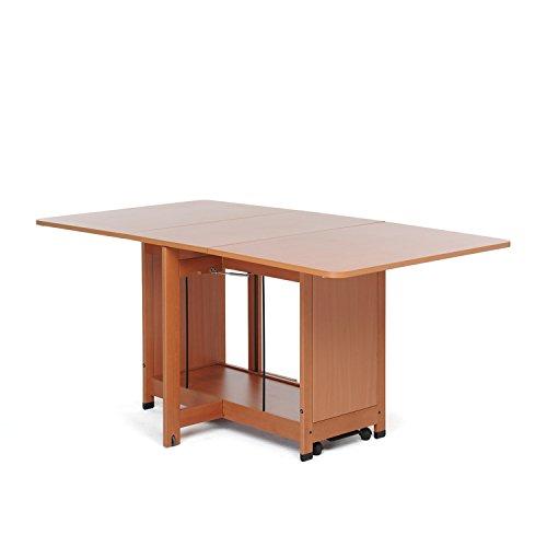 Foppapedretti copernico tavolo pieghevole, noce