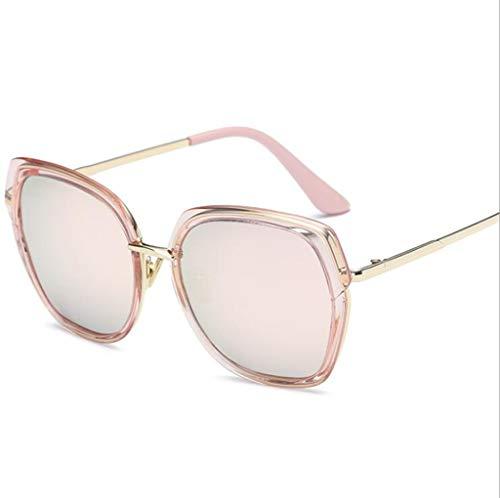 MOOMDDY Sonnenbrille Koreanische Version Der Big Box Trend Sonnenbrillen Women Es Outdoor UV-Brille,Pink