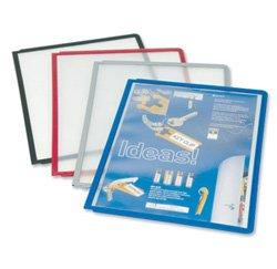 Preisvergleich Produktbild Durable Sherpa Sichttafel transparent mit farbigem flexiblem Rahmen, rot, 03 06/56/(DE), A4, 10 Stück