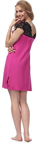 Merry Style Chemise de Nuit Femme MS10-110 Rose/Noir